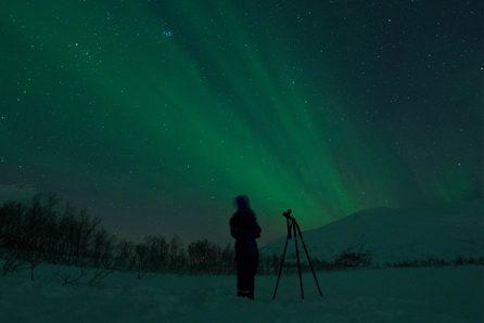 noorderlicht in tromso noorwegen