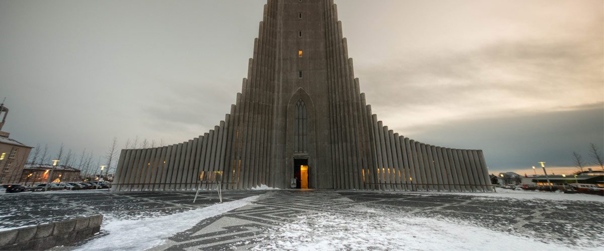 Hallgrimskirkja in Reykjavik.