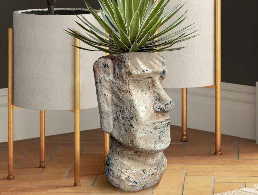 Moai bloempot origineel housewarming cadeau