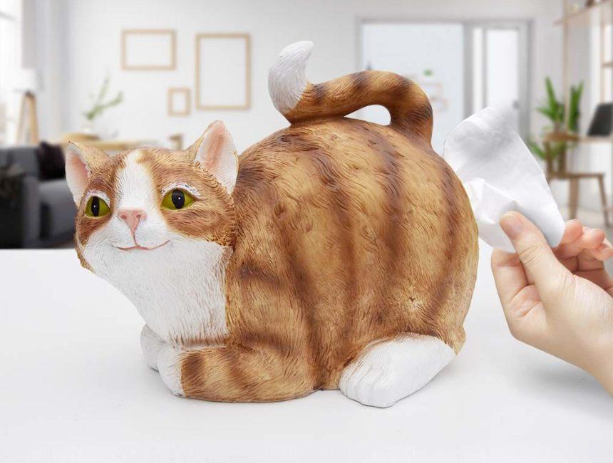 grappig housewarming cadeau Kat tissuebox