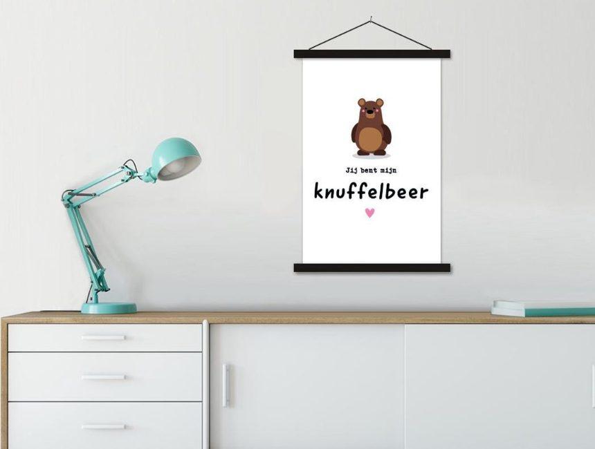 valentijn geschenken voor haar knuffelbeer poster