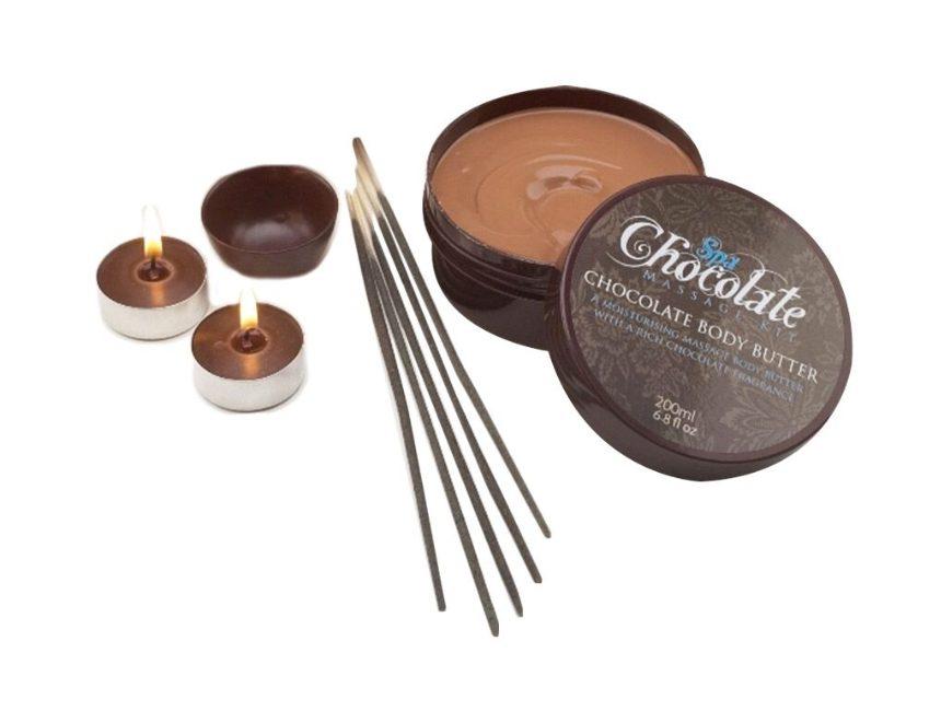 Chocolade massage set